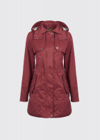 Barrington Women's Waterproof Hooded Coat - Merlot Multi