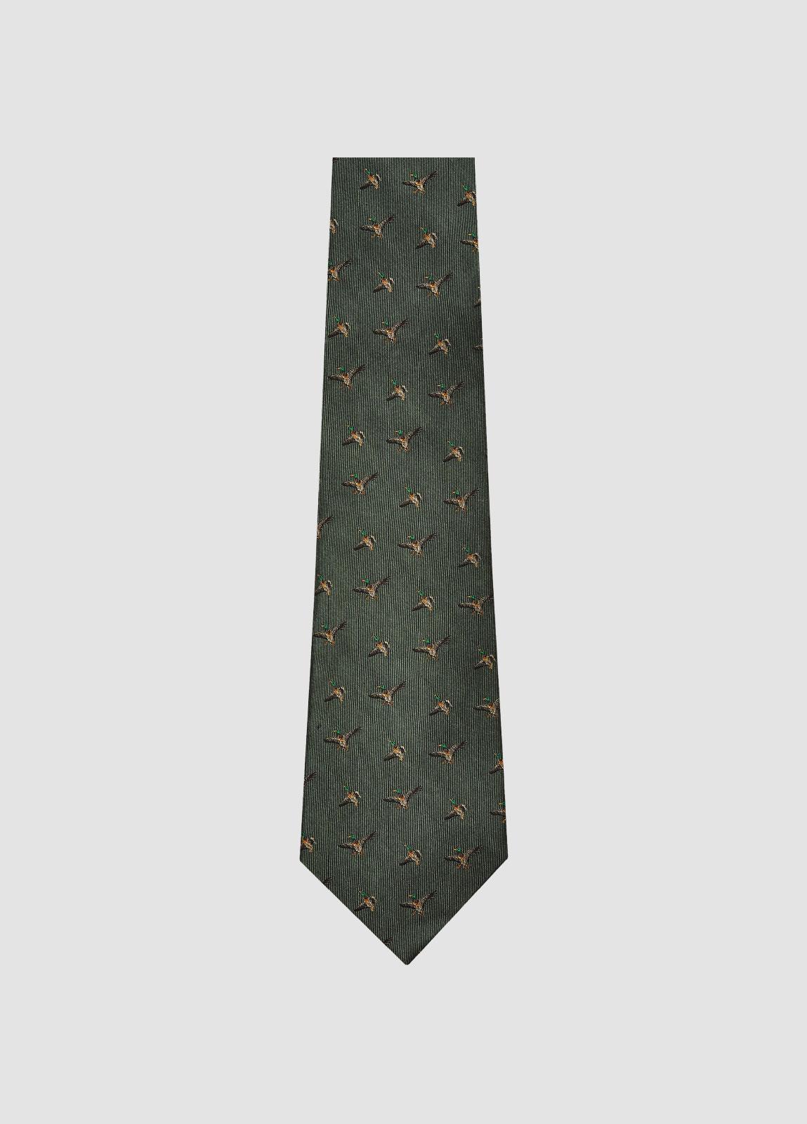 Kilkeevin Silk Tie - Olive