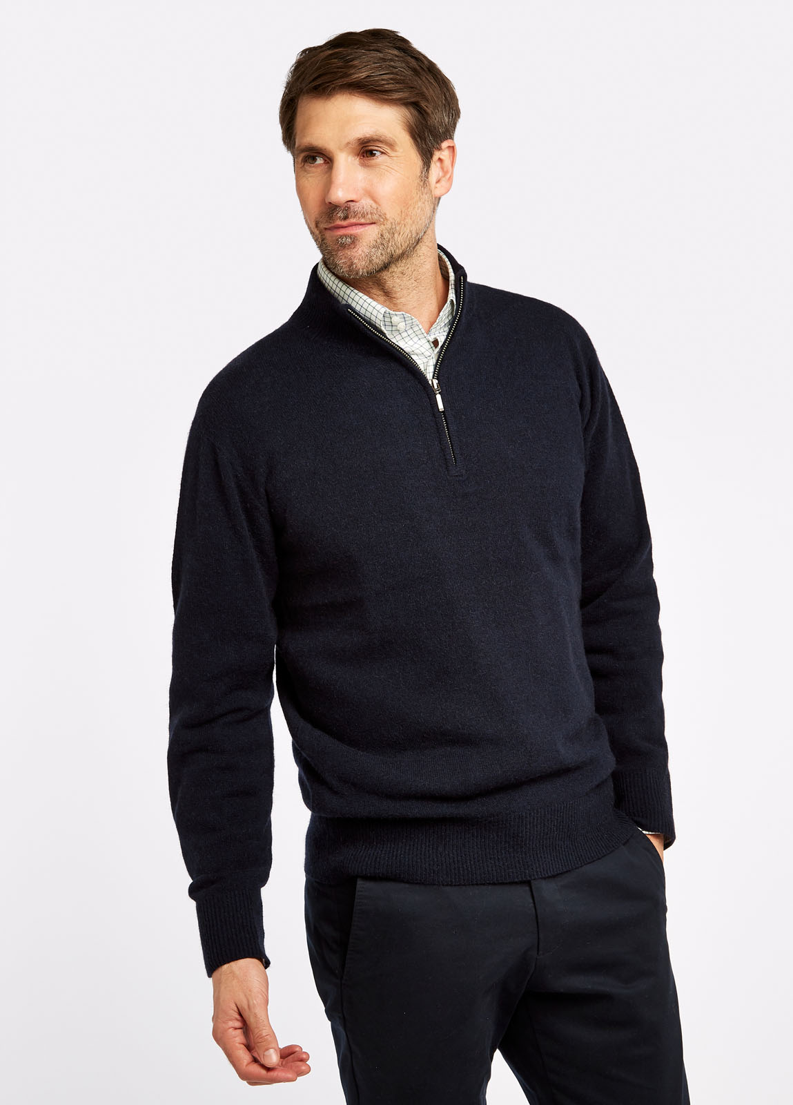 Dubarry_Mullen_Sweater_Navy_on_model