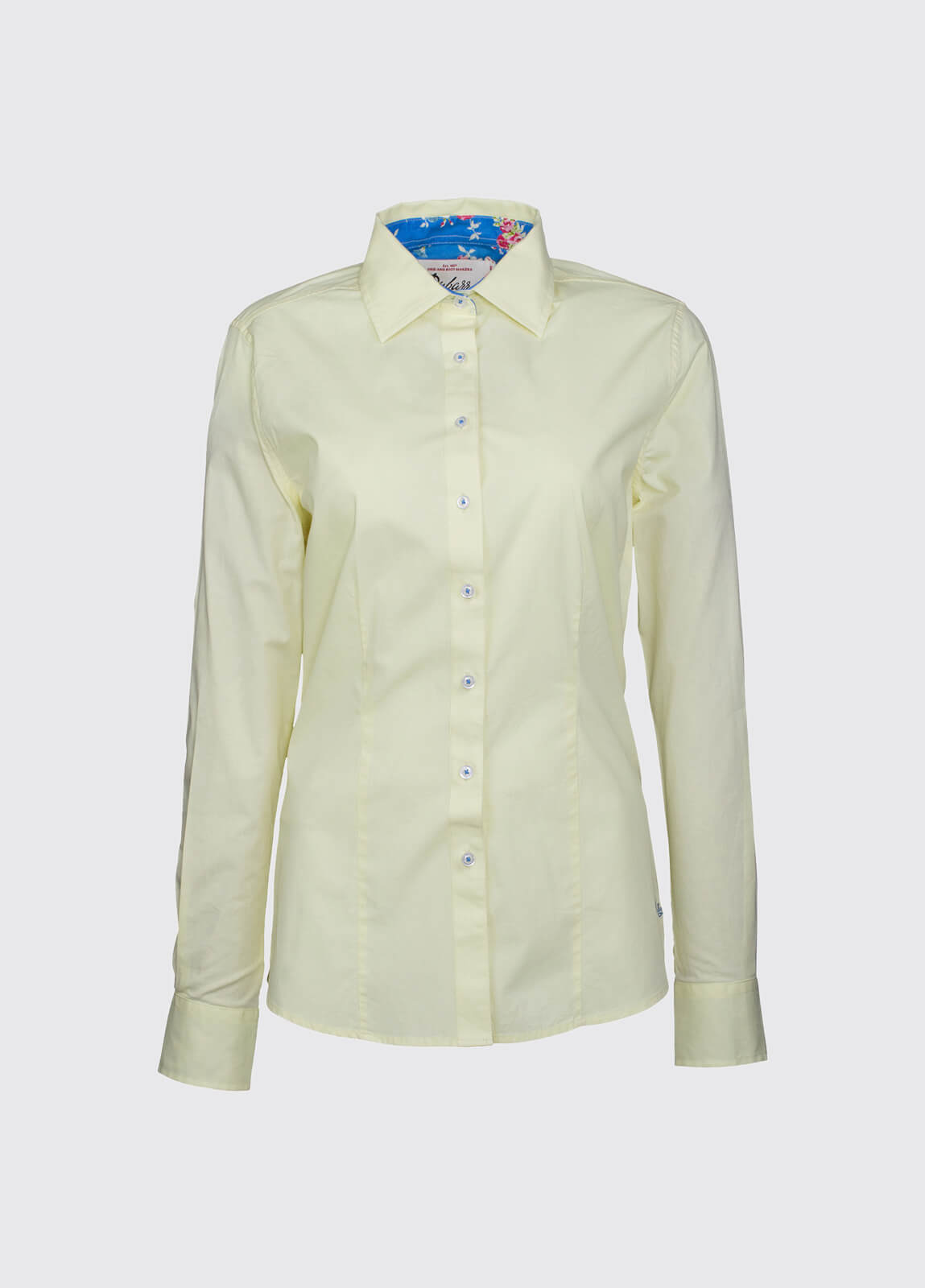 Petunia Floral Trim Shirt - Lemon