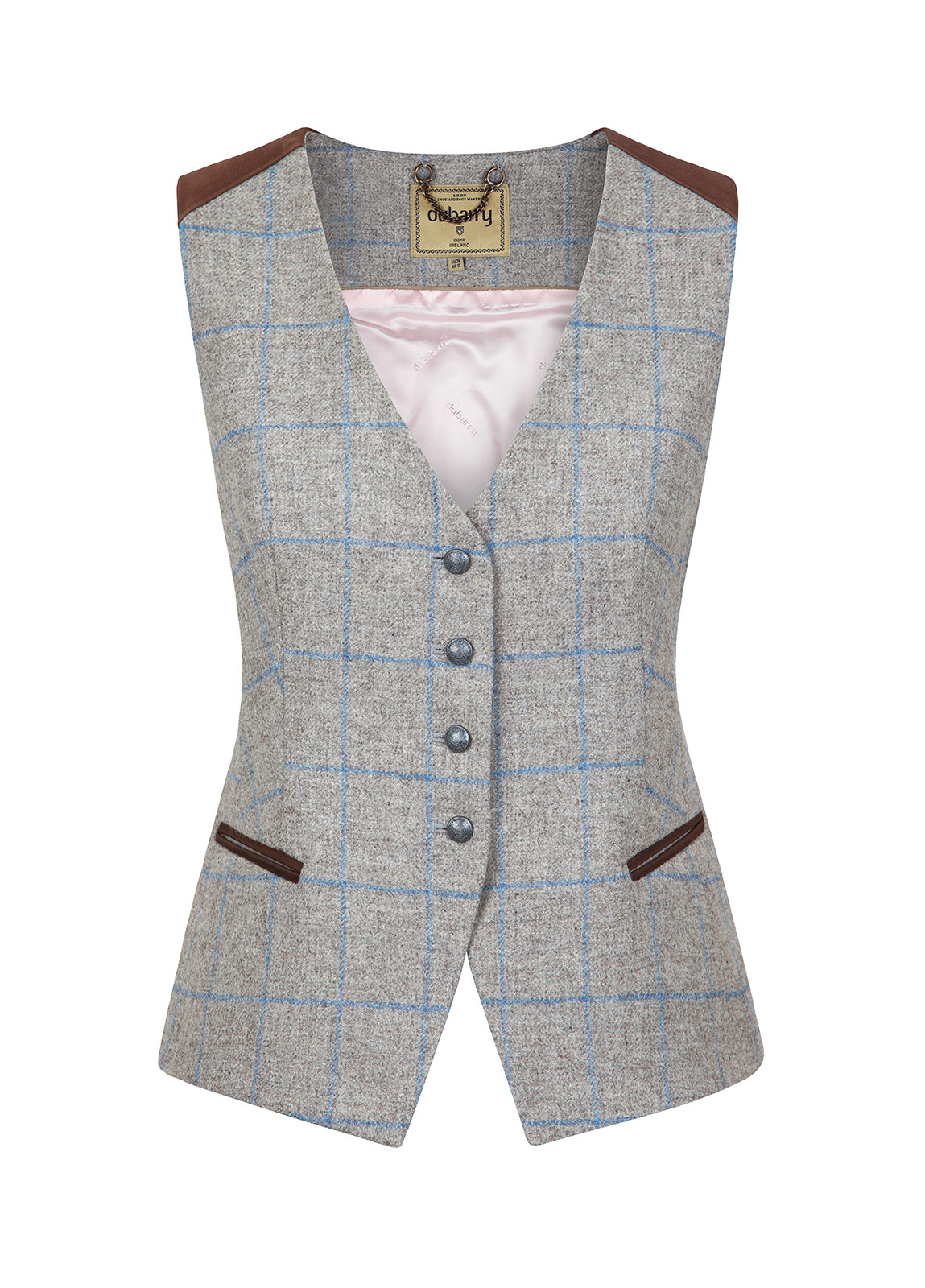 Dubarry_ Daisy Fitted Tweed Waistcoat - Shale_Image_2