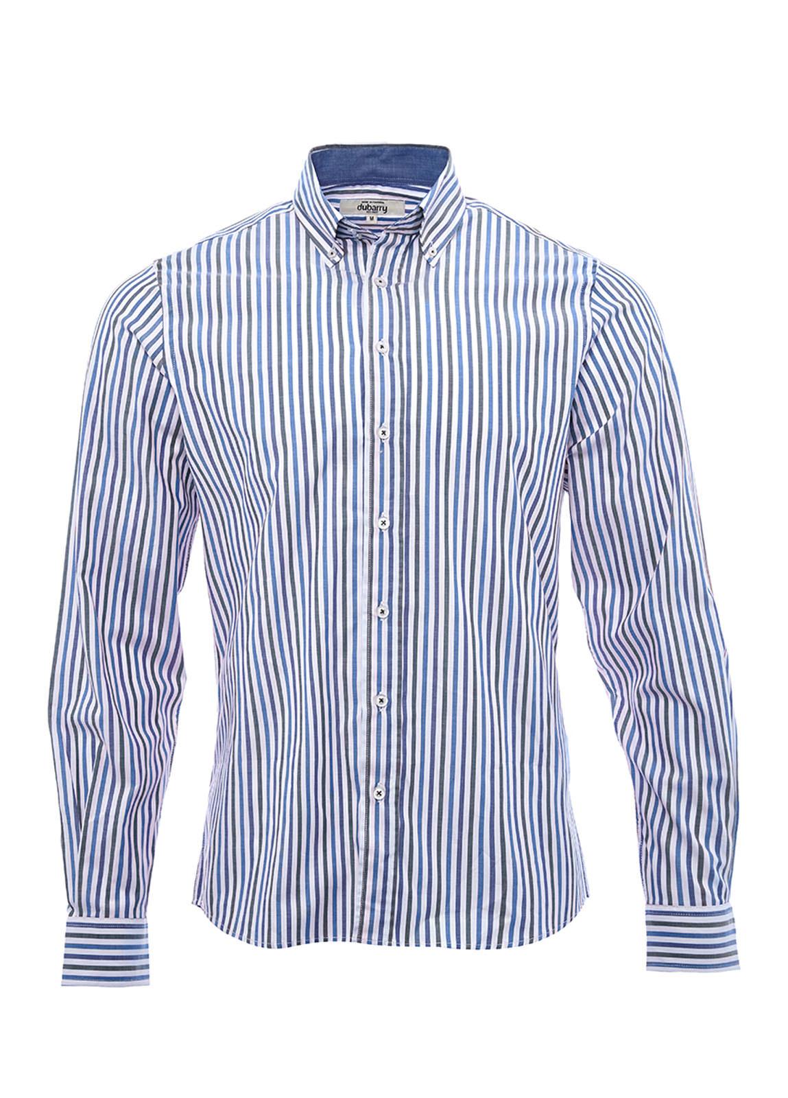 Dubarry_ Kinvara striped shirt - Navy/Bordo_Image_2