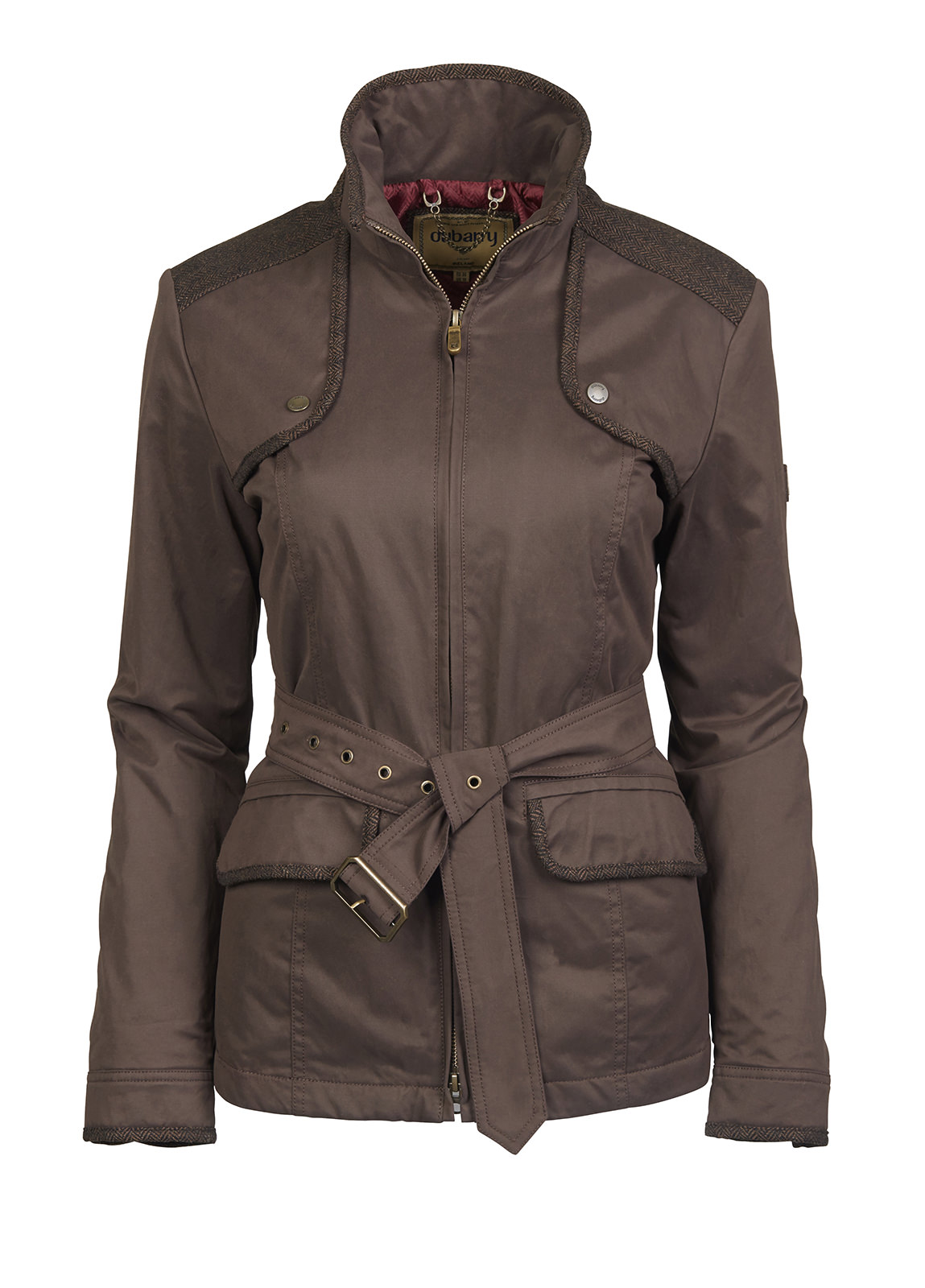 Dubarry_ Enright Belted Jacket - Bourbon_Image_2