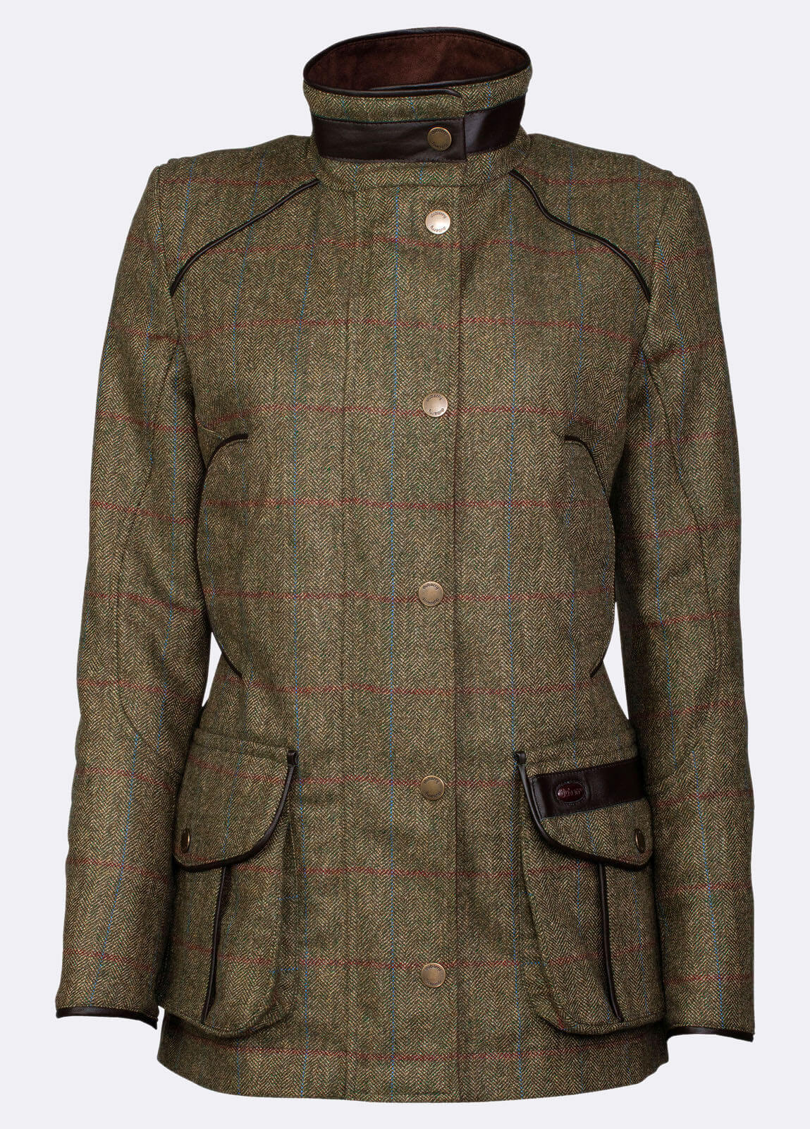 Dubarry_Marlfield_Tweed_Jacket_Moss_on_model