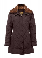 Kenmare Quilted Coat - Coffee Bean