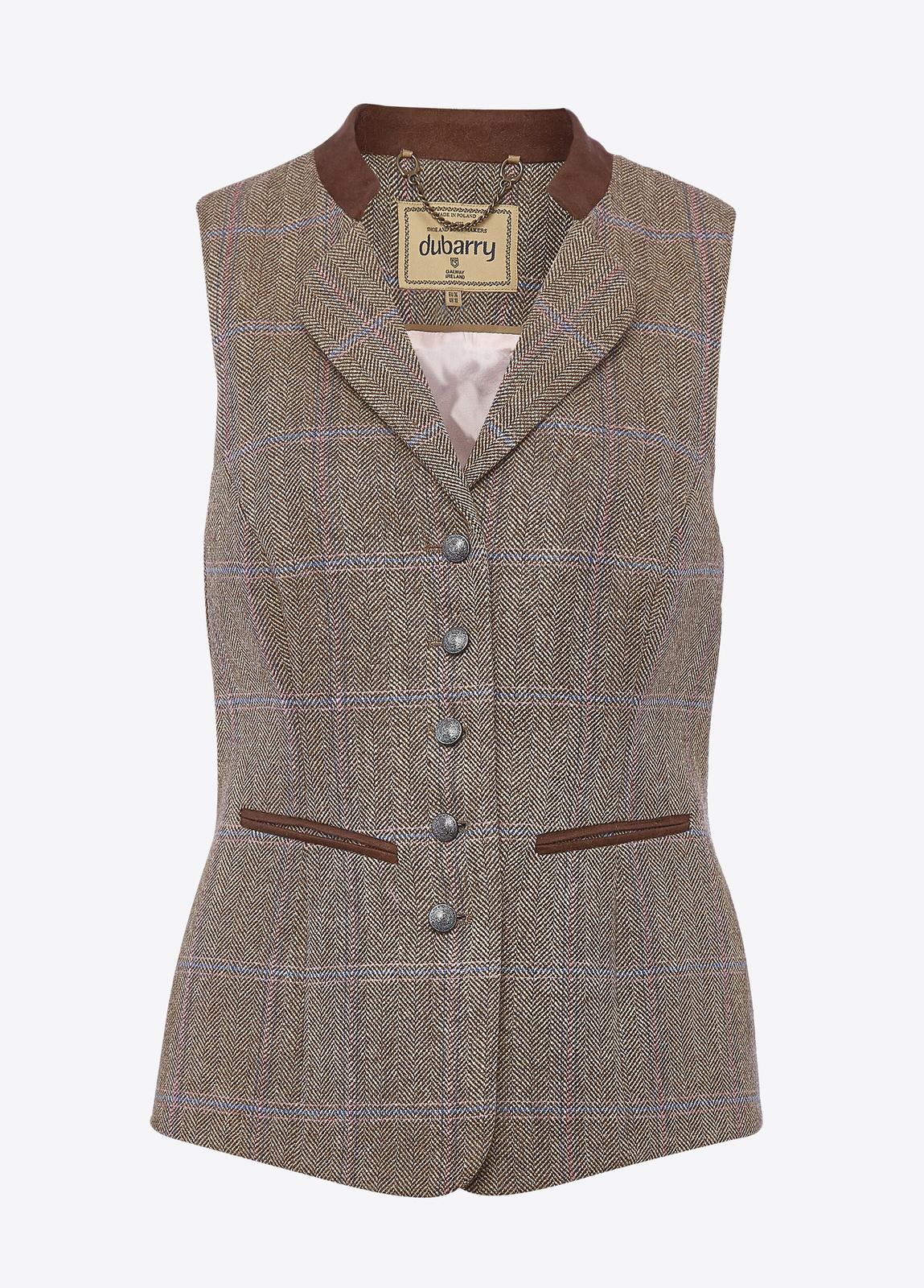 Spindle Tweed Waistcoat - Woodrose