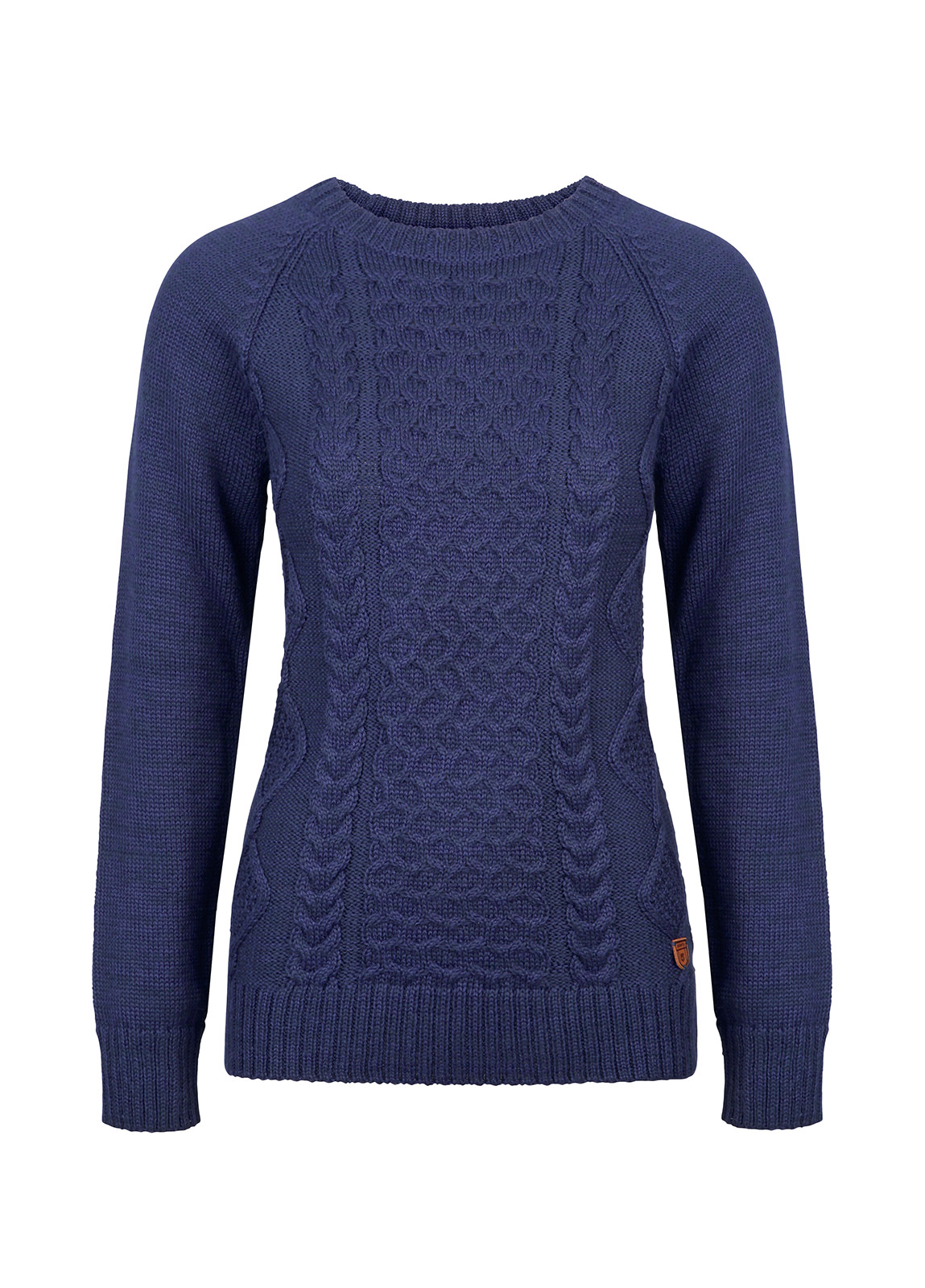 Dubarry_Shandon Ladies Cable Knit Sweater - French Navy_Image_2