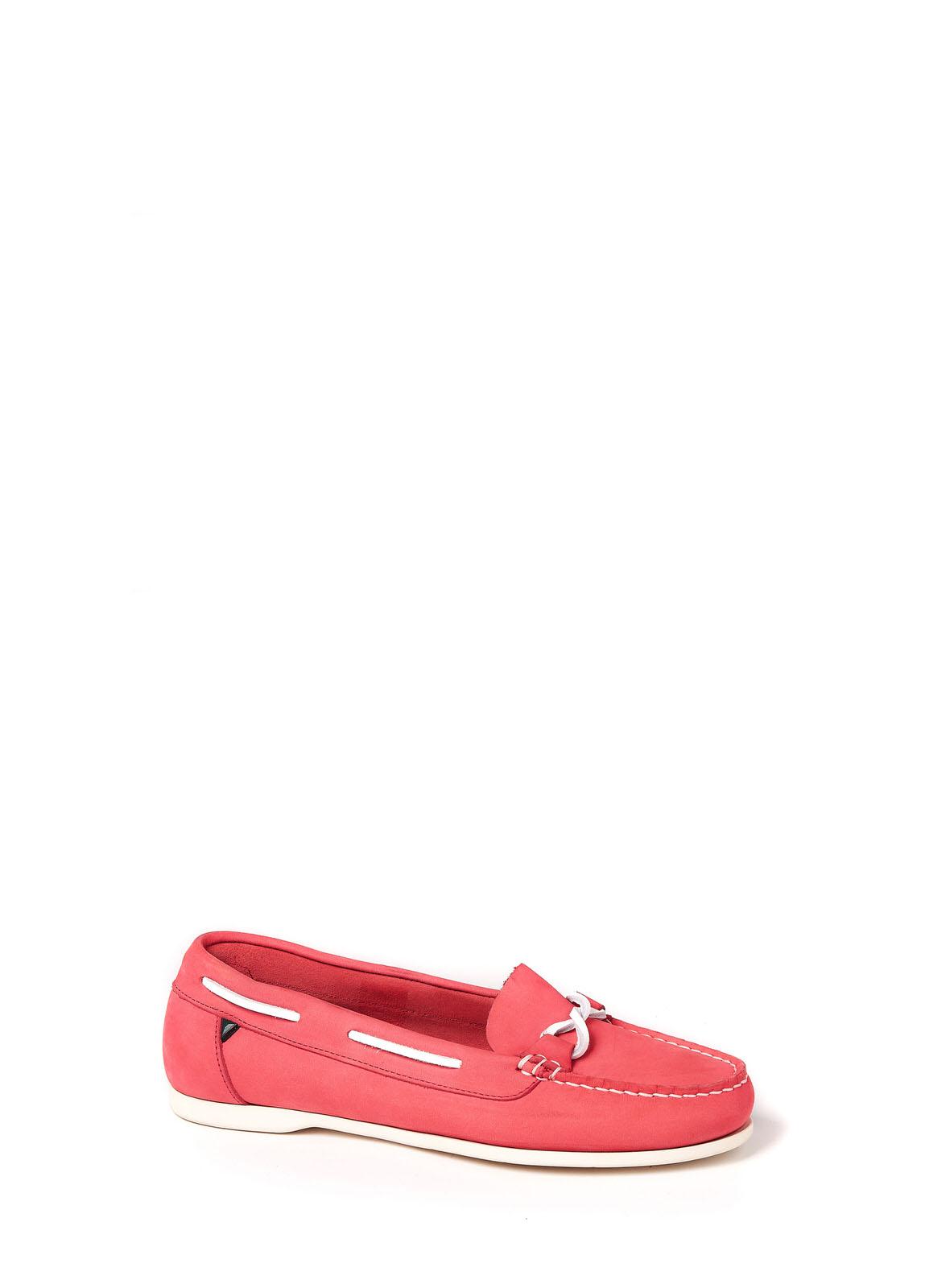Dubarry_ Rhodes Deck Shoe - Coral_Image_1