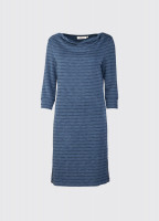 Ennis Cowl Neck Dress - Navy
