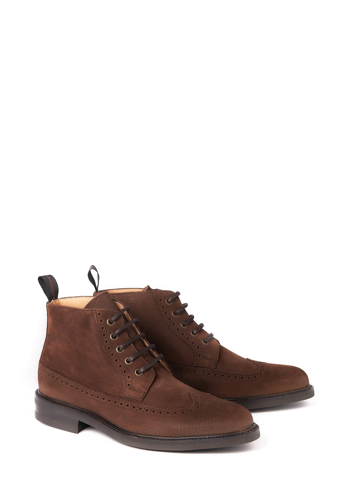 Down brogue veterschoen - Walnut