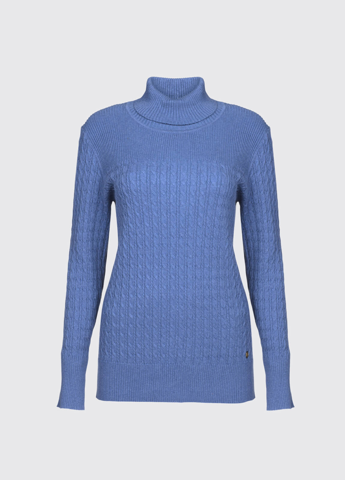 Boylan Polo Neck Sweater - Denim