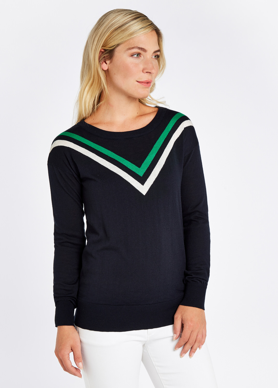 Ballybrit_Sweater_Navy_on_model
