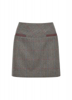 Clover Tweed Mini Skirt - Moss