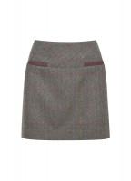 Clover Tweed Mini Skirt - Moss