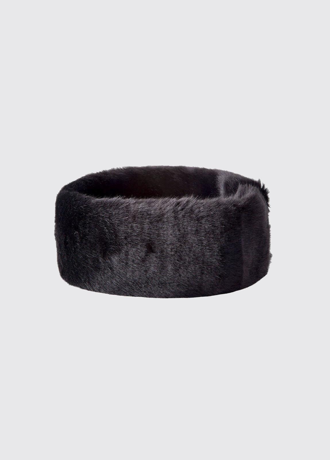 Faux Fur Headband - Black
