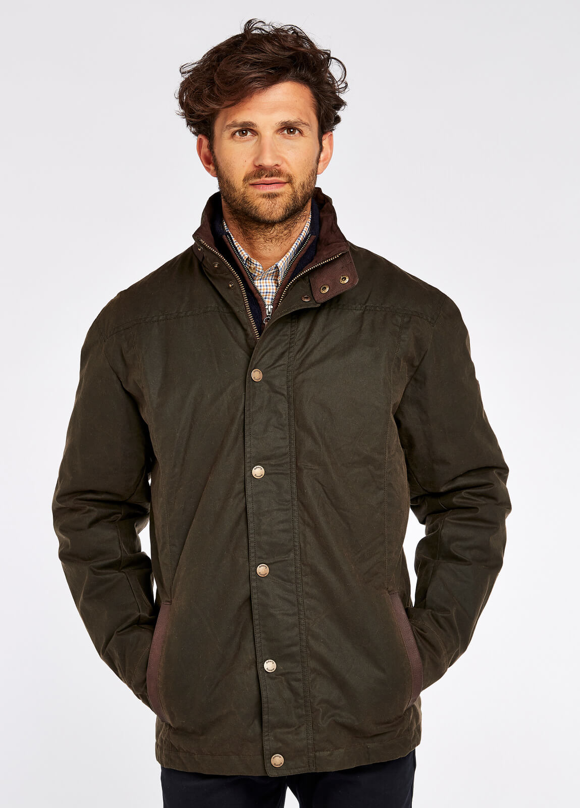 Carrickfergus Waxed Jacket - Olive