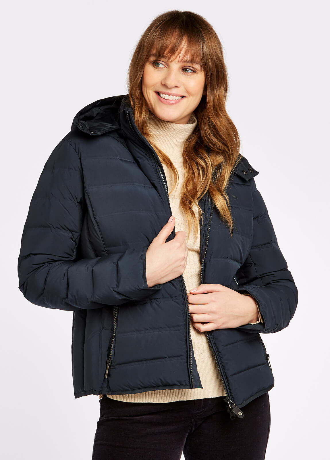 Kilkelly Quilted Coat - Navy