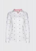 Azalea Printed Shirt - Sail White