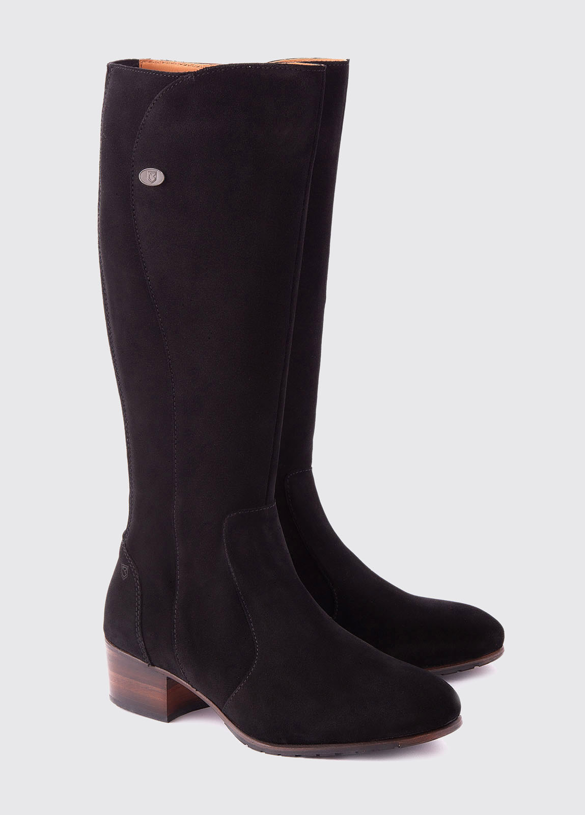 Downpatrick Knee High Boot - Black Suede