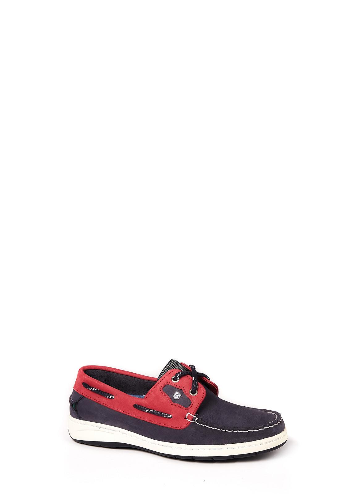 Dubarry_Cannes Deck Shoe - Denim/Red_Image_1