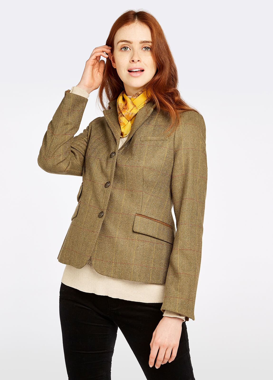 Buttercup Tweed Jacket - Elm