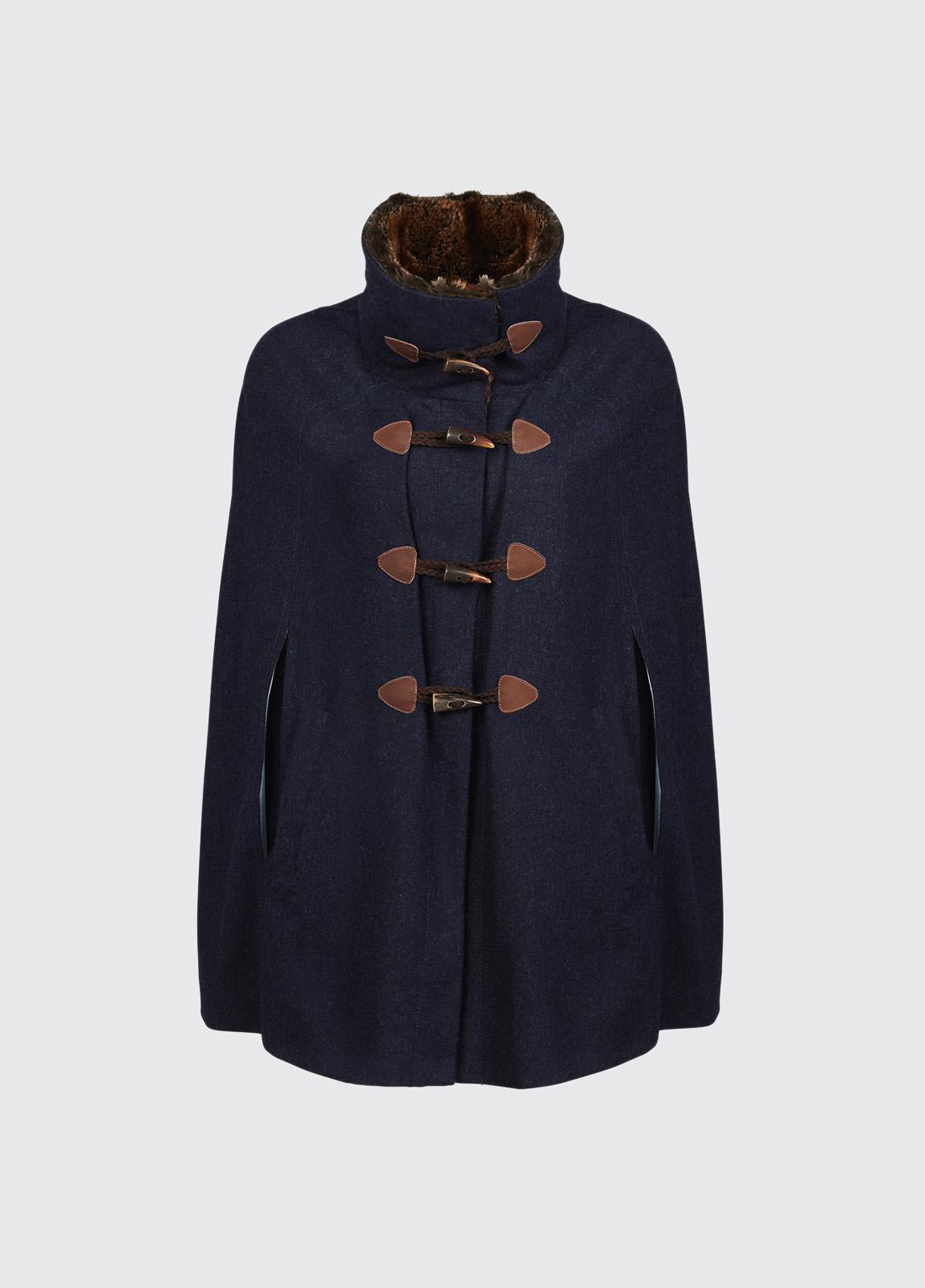 Samphire Tweed Cape - Navy
