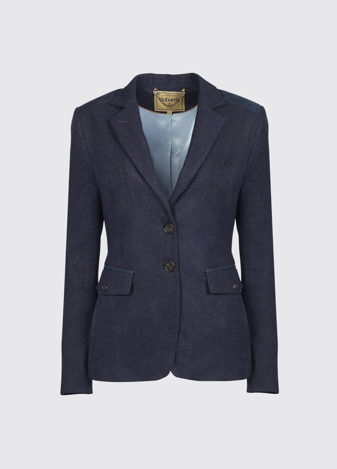 Pearlwort Tweed Blazer - Navy
