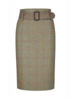 Arrowgrass Knee Length Tweed Skirt - Black/Brown