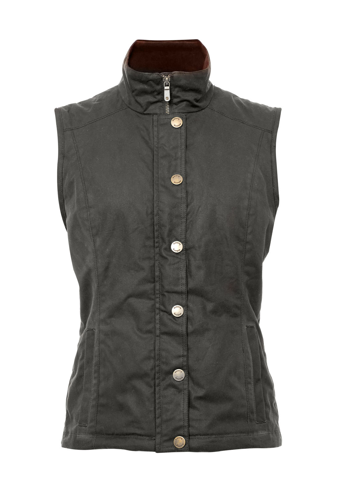 Oranmore Waxed Gilet - Olive