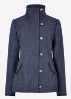 Bracken Tweed Coat - Denim