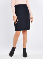 Fern Tweed Skirt - Navy