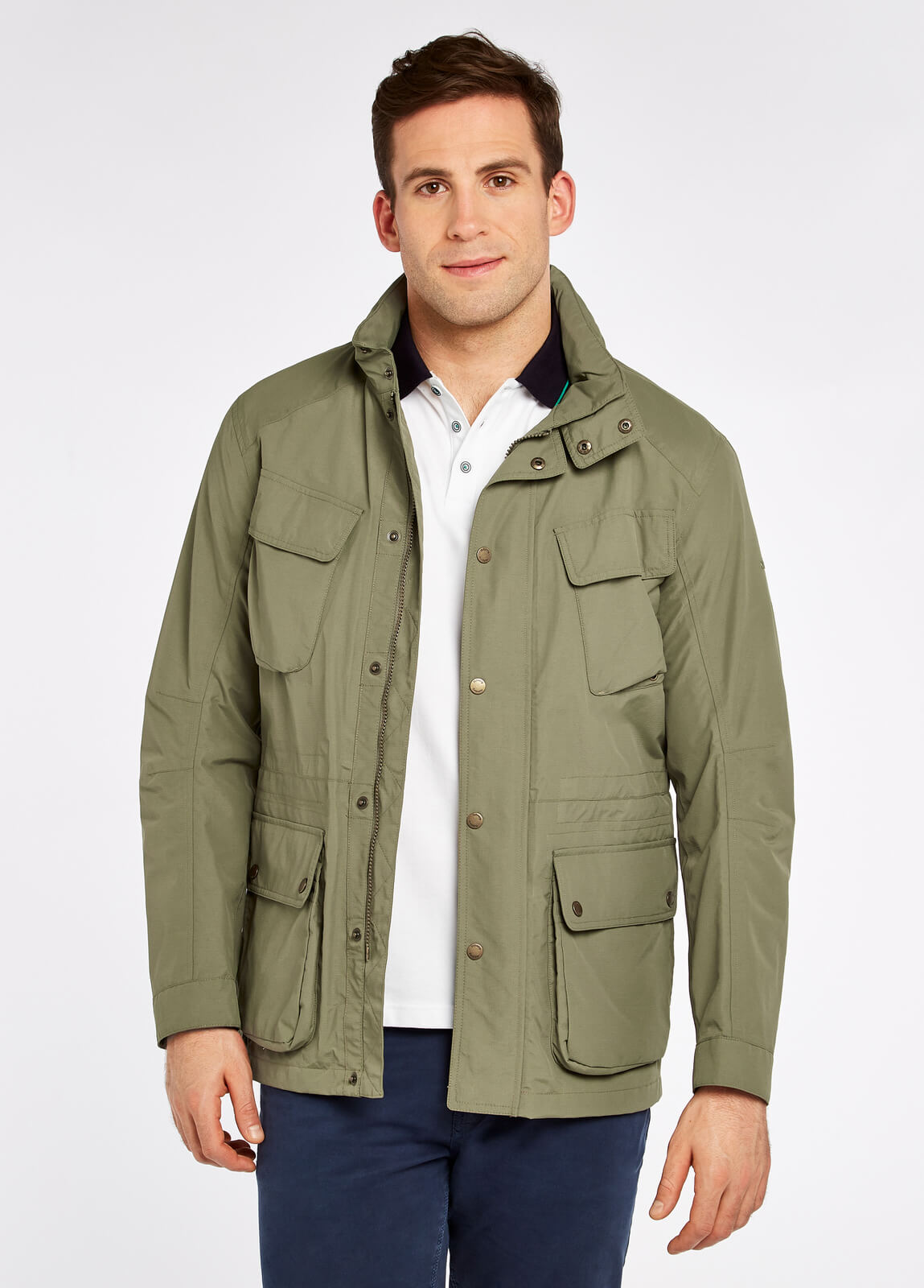 Dubarry_Thornton_Waterproof_Jacket_Khaki_on_model