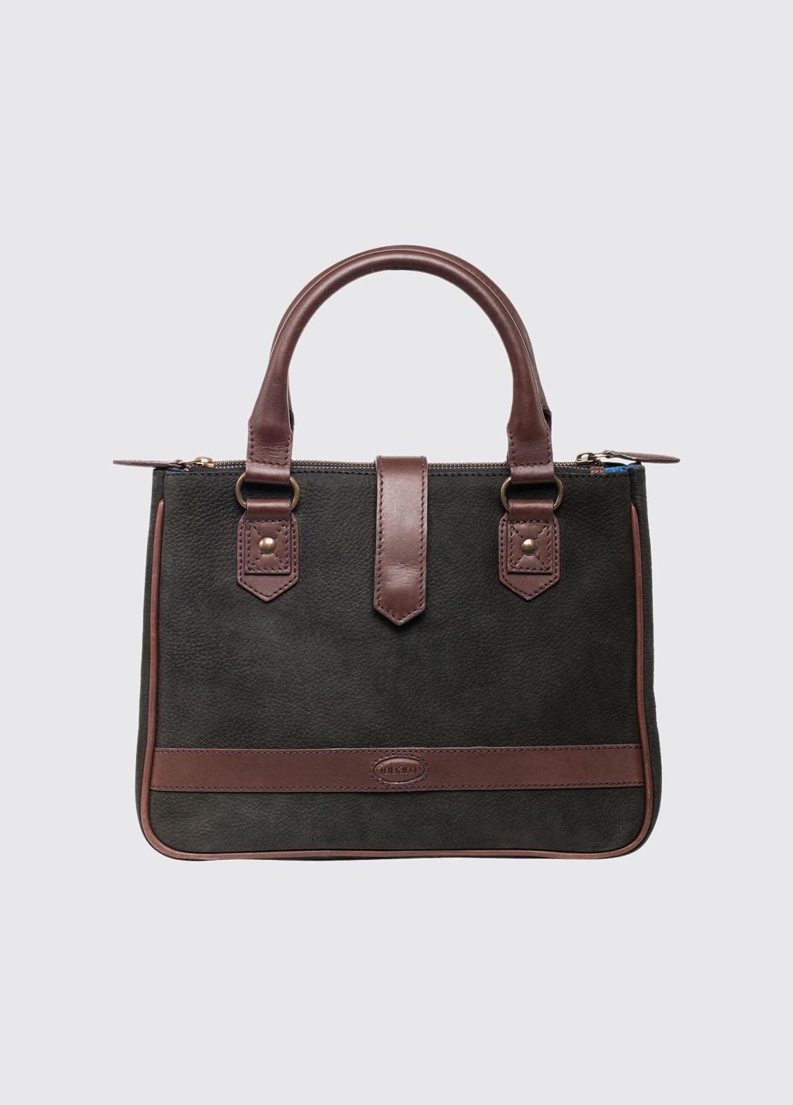 Fancroft Leather Handbag - Black/Brown