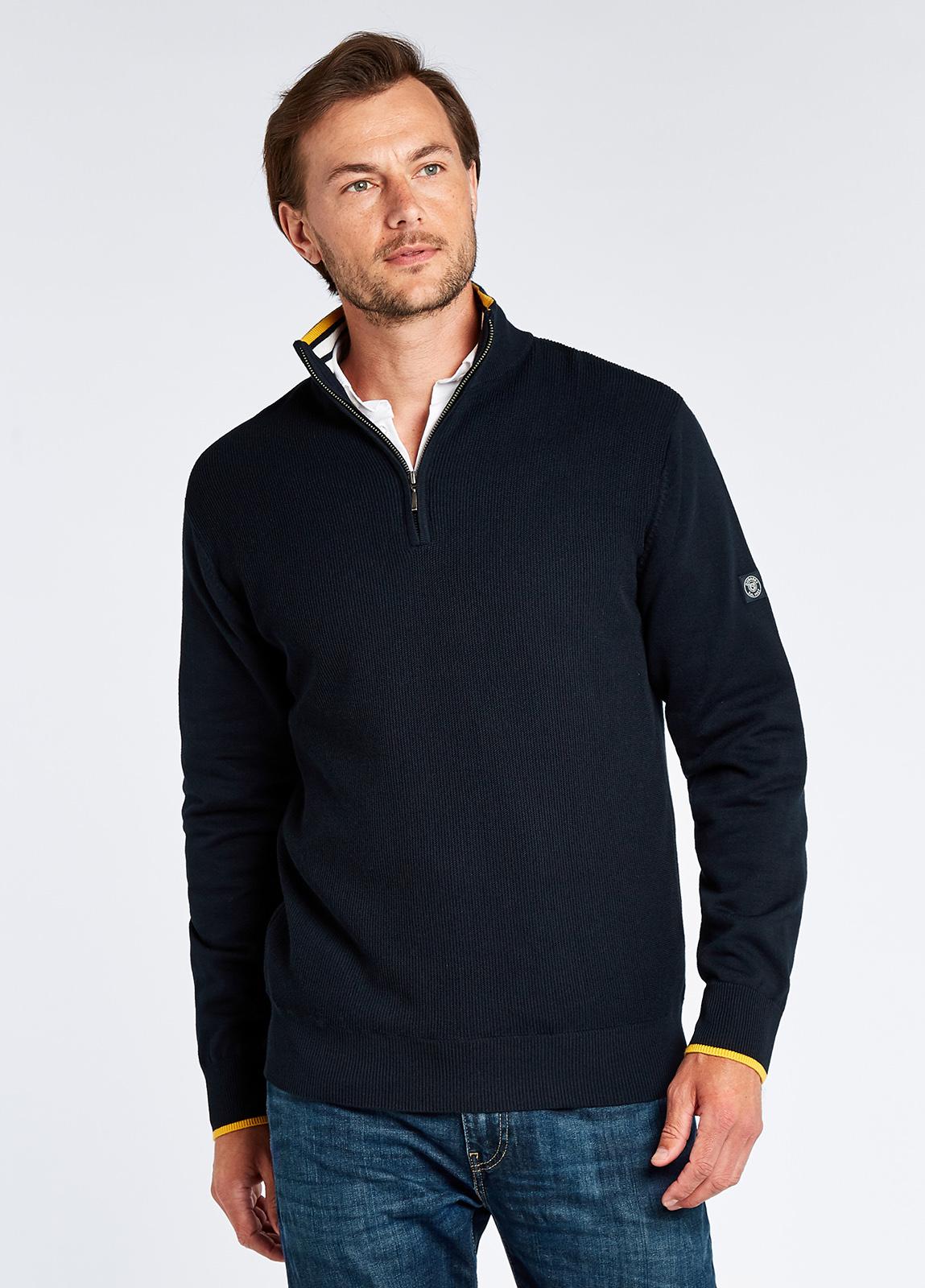 Rathwood Zip Neck Knit - Navy