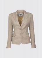 Blairscove Women's Linen Blazer - Oatmeal