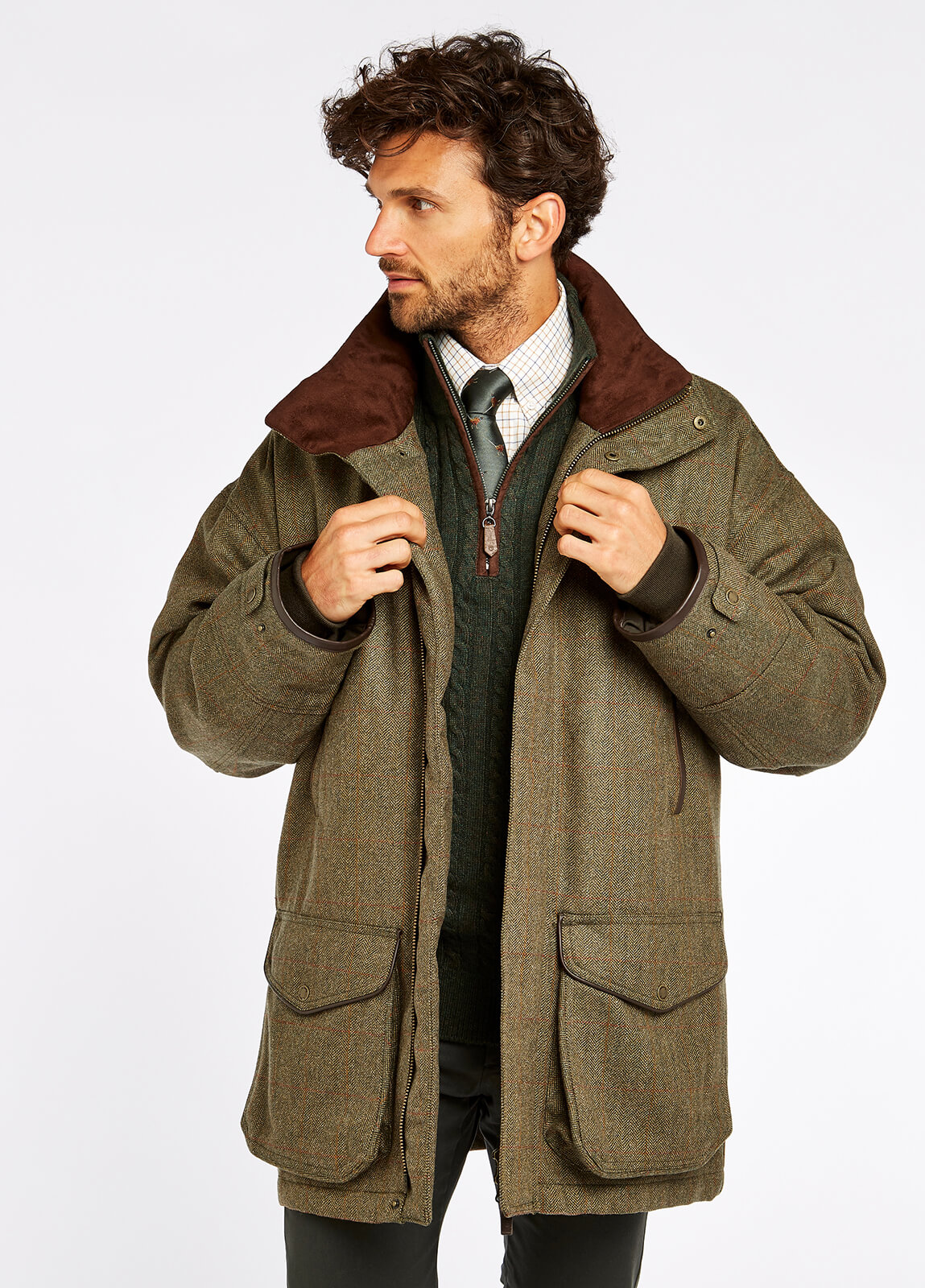 Ballinturbet Tweed Jacket - Cedar
