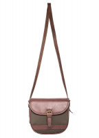 Clara Leather Saddle bag - Olive