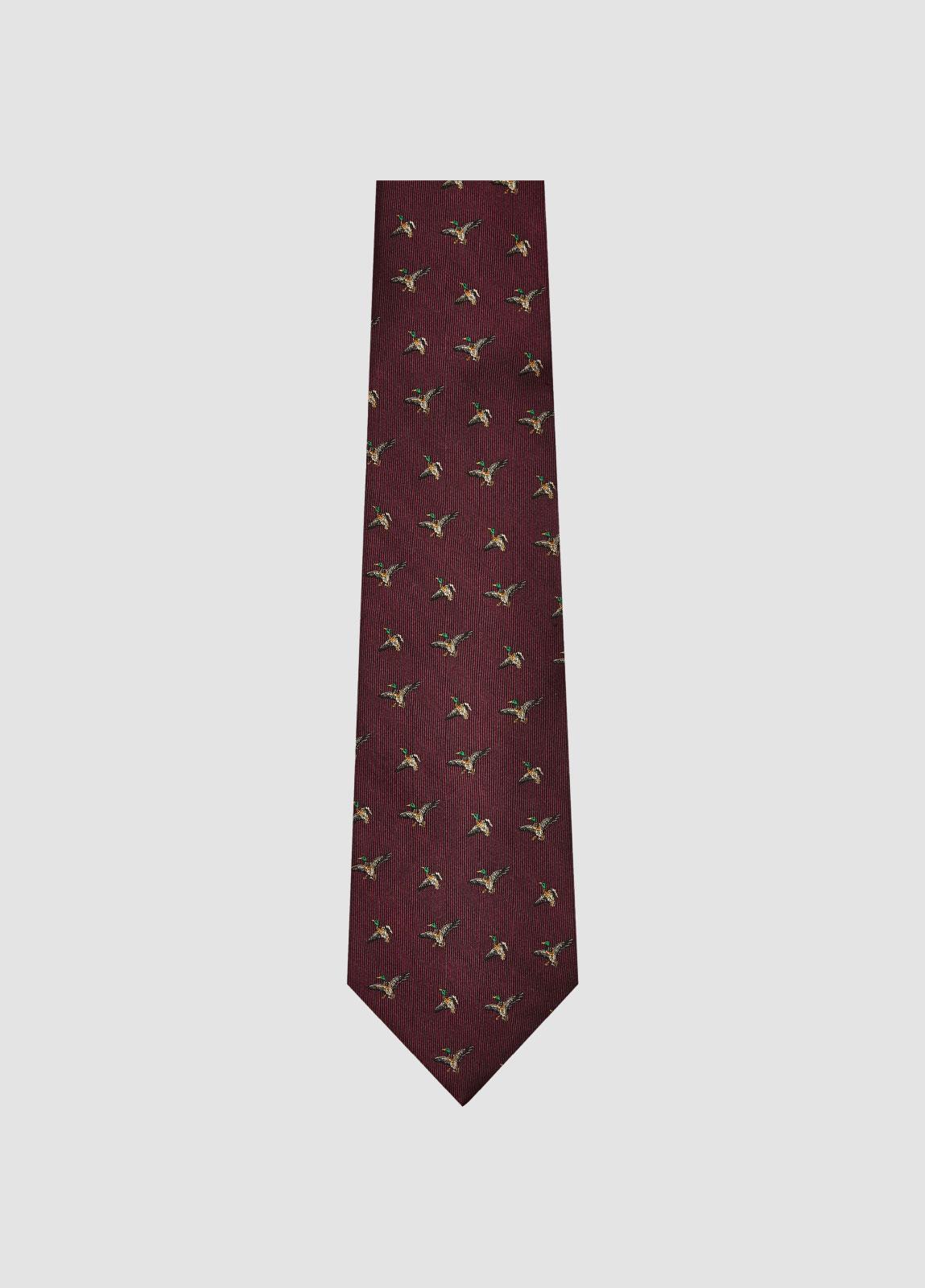Kilkeevin Silk Tie - Merlot