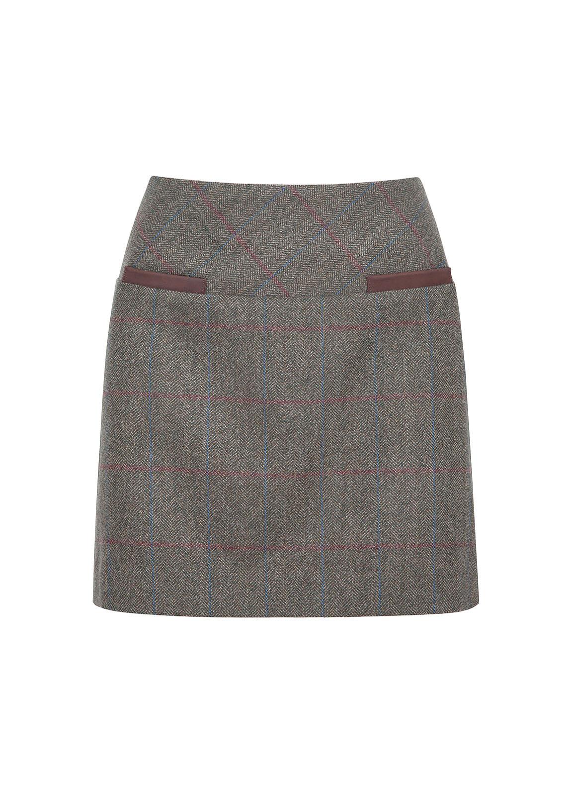 Dubarry_ Clover Tweed Mini Skirt - Moss_Image_2