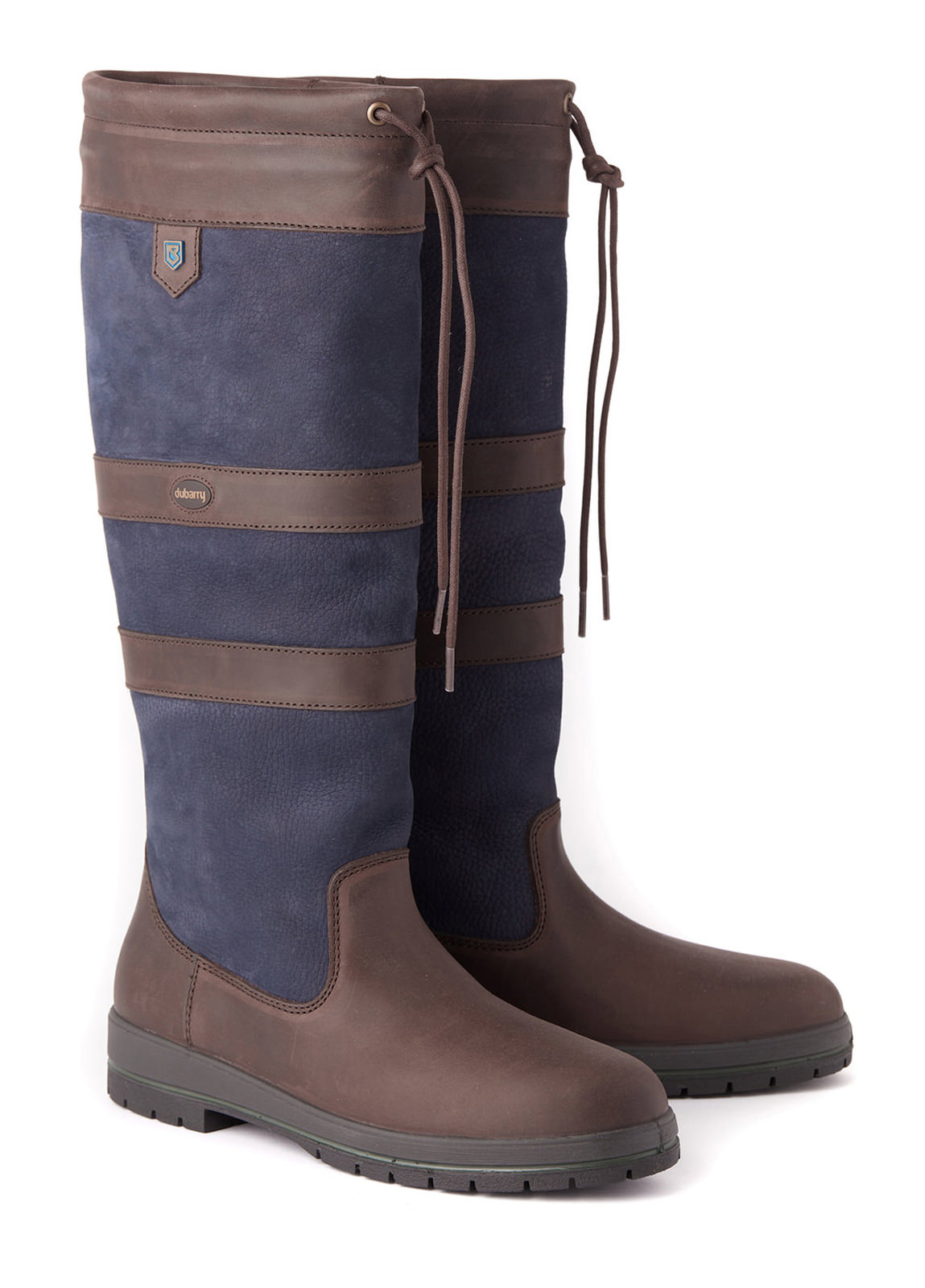 Galway ExtraFit™ Country Boot - Navy/Brown