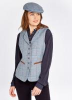 Spindle Tweed Waistcoat - Blue Heather