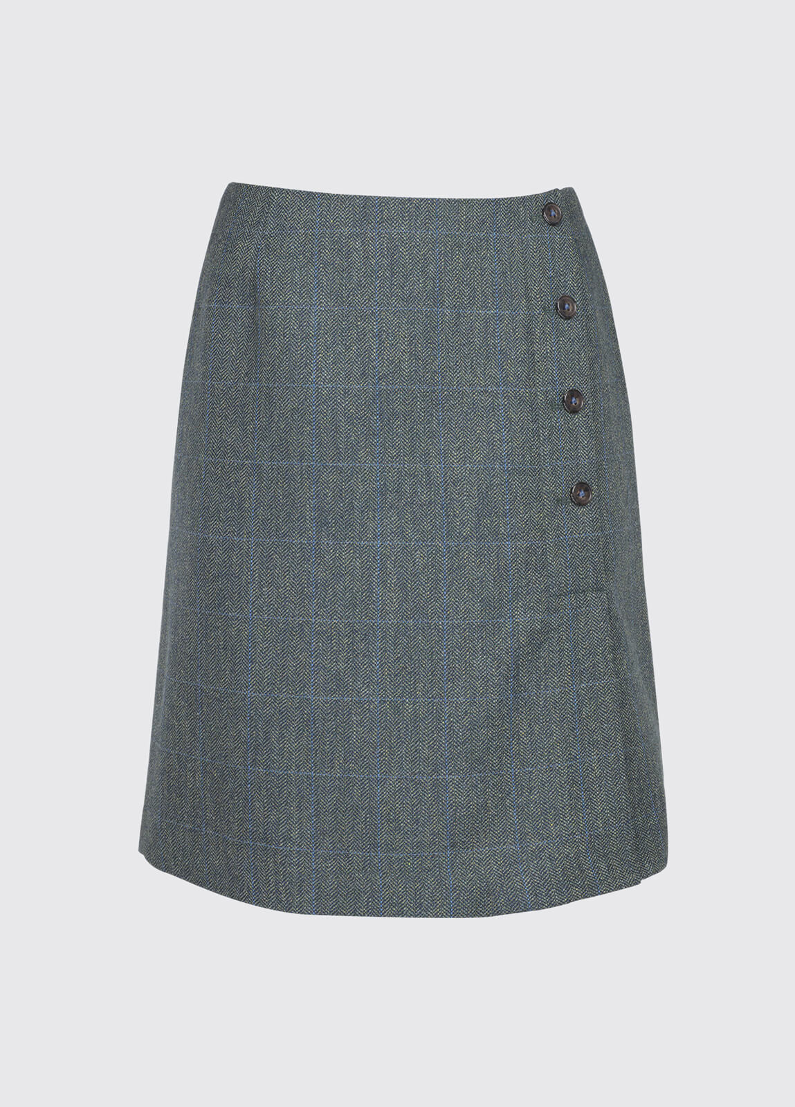 Marjoram Slim Tweed Skirt - Mist