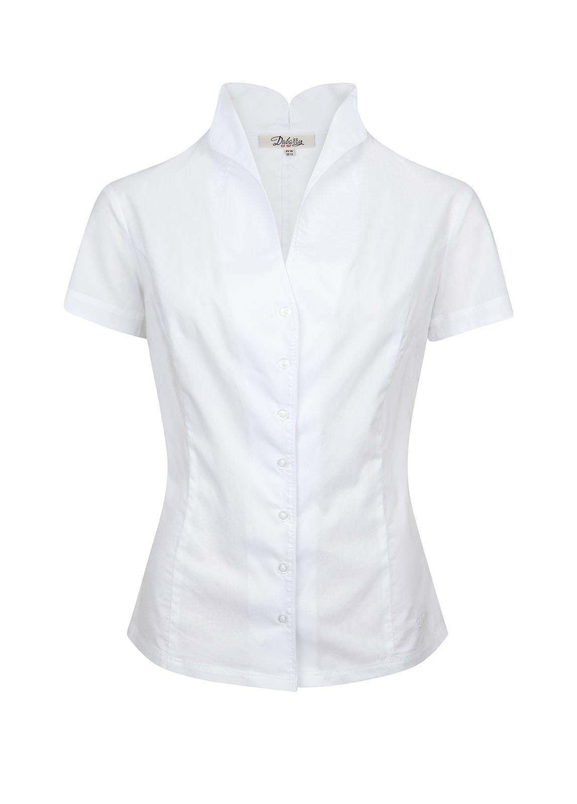 Starflower Short Sleeve Women's Shirt - White