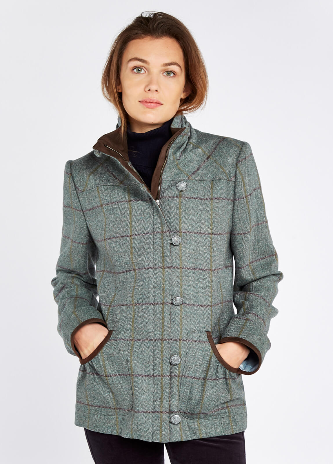 Bracken Damen Tweed Jacke Sorrel