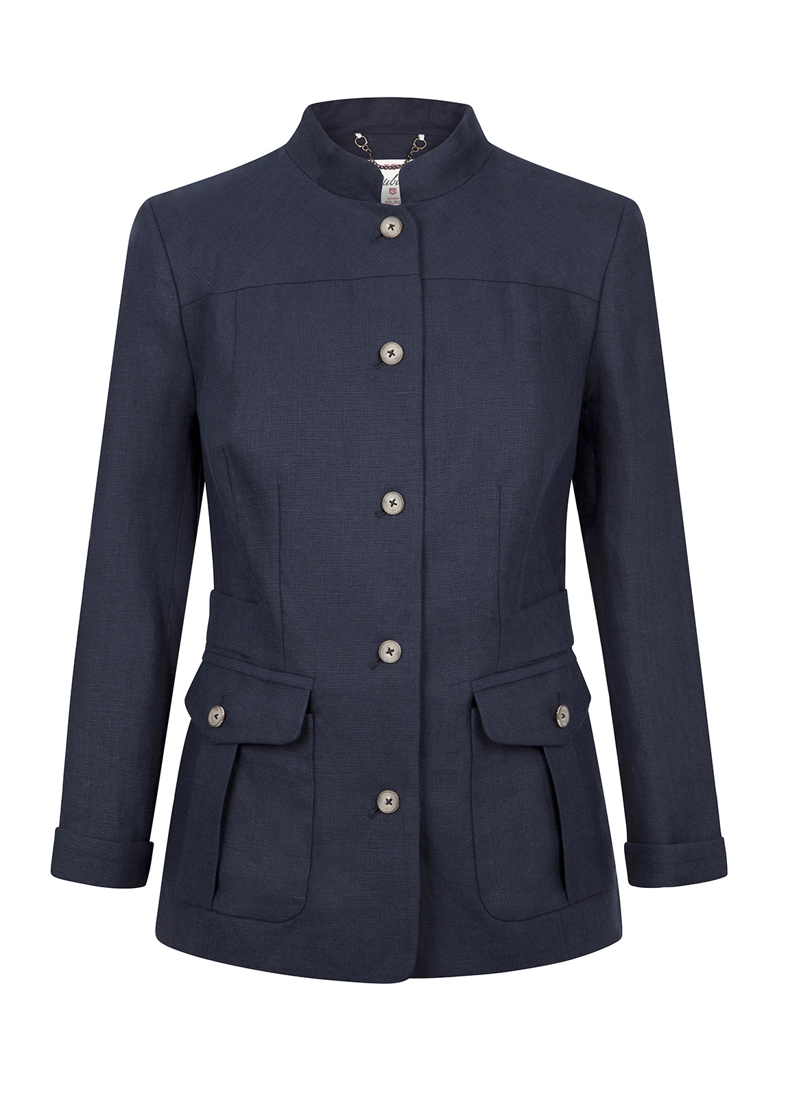 Malahide Women's Linen Jacket - Navy