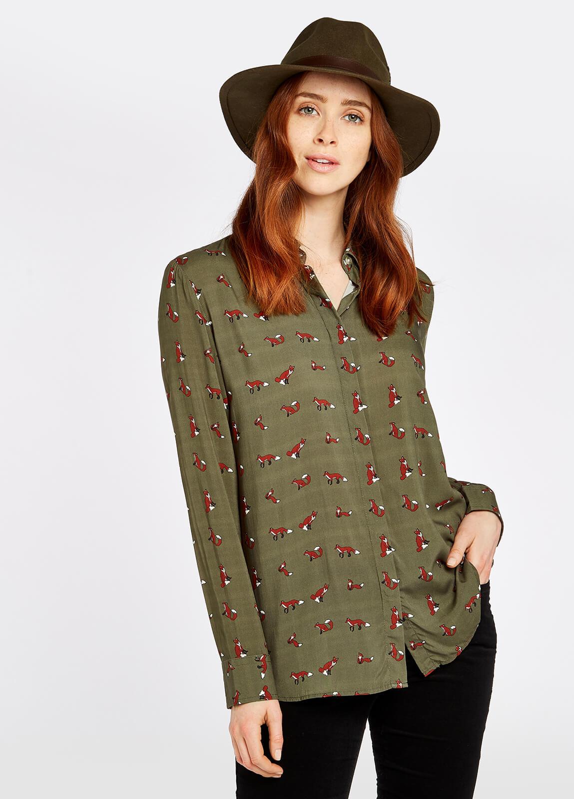 Delphine Shirt - Dusky Green