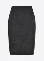 Fern Tweed Skirt - Graphite
