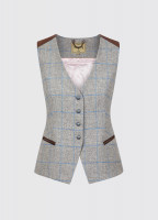 Daisy Fitted Tweed Waistcoat - Shale