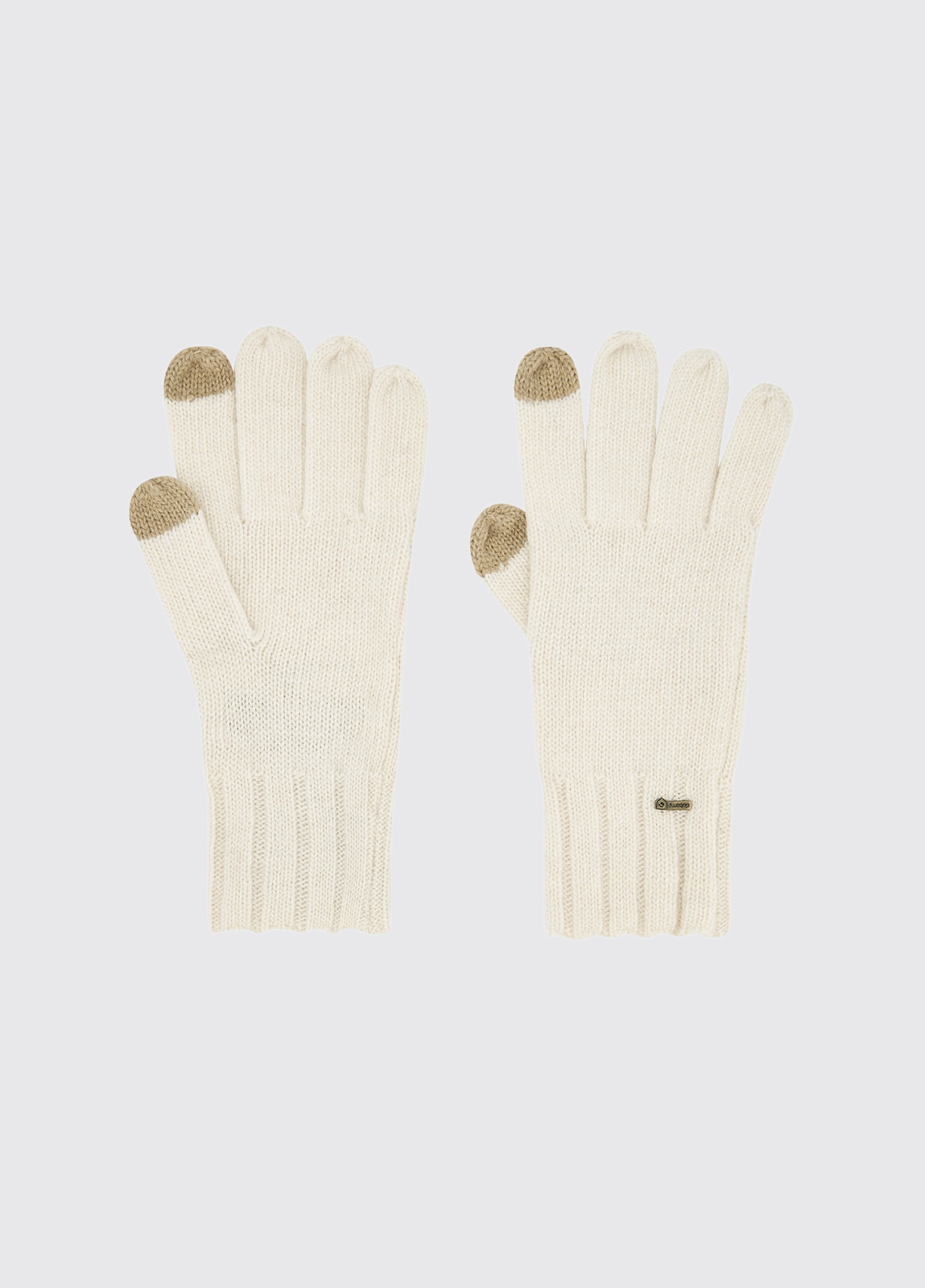 Hayes Knitted Gloves - Chalk