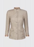 Malahide Women's Linen Jacket - Oatmeal